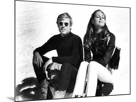 Downhill Racer, Robert Redford, Camilla Sparv, 1969--Mounted Photo