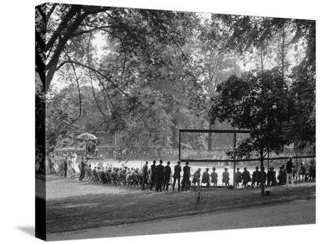White House Tennis Court During a Match on May 10, 1922--Stretched Canvas Print