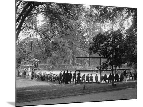 White House Tennis Court During a Match on May 10, 1922--Mounted Photo