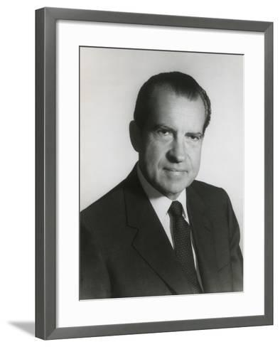 President Richard Nixon in His First Term Official Portrait, 1969--Framed Art Print