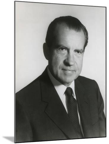 President Richard Nixon in His First Term Official Portrait, 1969--Mounted Photo