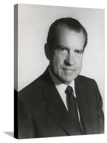 President Richard Nixon in His First Term Official Portrait, 1969--Stretched Canvas Print