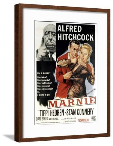 Marnie, Director Alfred Hitchcock, Sean Connery, Tippi Hedren, 1964--Framed Art Print