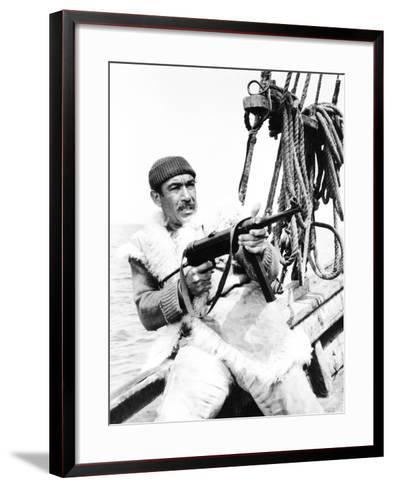 The Guns of Navarone, Anthony Quinn, 1961--Framed Art Print