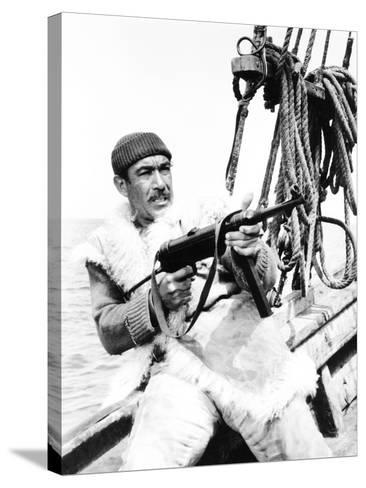 The Guns of Navarone, Anthony Quinn, 1961--Stretched Canvas Print