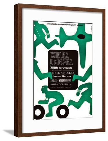 The Great Escape, (AKA Wielka Ucieczka), Polish Poster, 1963--Framed Art Print