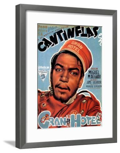 Gran Hotel, Cantinflas on Spanish Poster Art, 1944--Framed Art Print