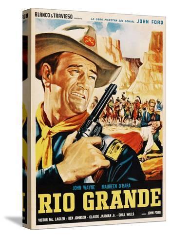 Rio Grande, John Wayne, 1950--Stretched Canvas Print