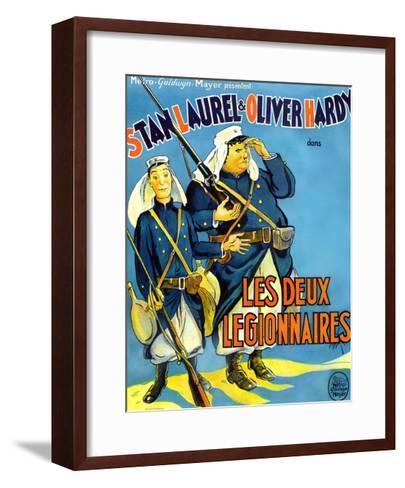 Beau Hunks, (aka Les Deux Legionnaires), French Poster Art, 1931--Framed Art Print