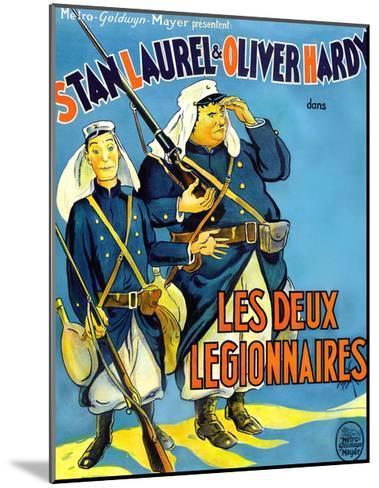 Beau Hunks, (aka Les Deux Legionnaires), French Poster Art, 1931--Mounted Giclee Print