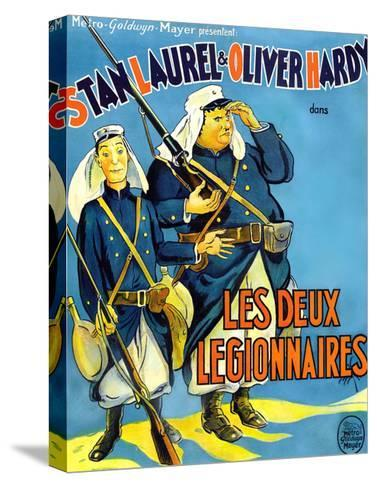 Beau Hunks, (aka Les Deux Legionnaires), French Poster Art, 1931--Stretched Canvas Print