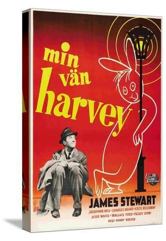 Harvey, James Stewart, Swedish Poster Art, 1950--Stretched Canvas Print