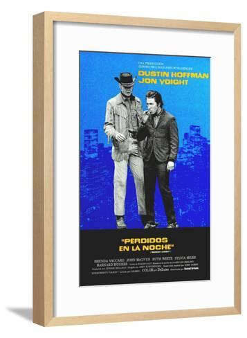 Midnight Cowboy, Jon Voight, Dustin Hoffman, 1969--Framed Art Print