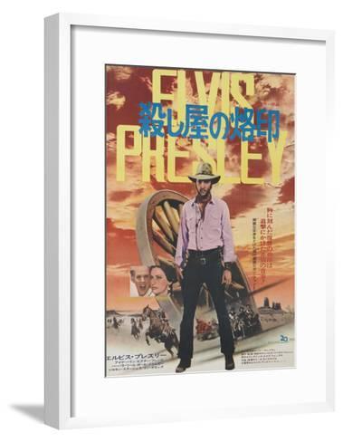 Charro!, Center: Elvis Presley on Japanese Poster Art, 1969--Framed Art Print