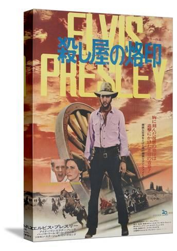 Charro!, Center: Elvis Presley on Japanese Poster Art, 1969--Stretched Canvas Print