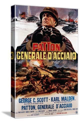Patton ,(AKA Patton Cenerale D'Acciaio), Italian Poster Art, George C. Scott, 1970--Stretched Canvas Print