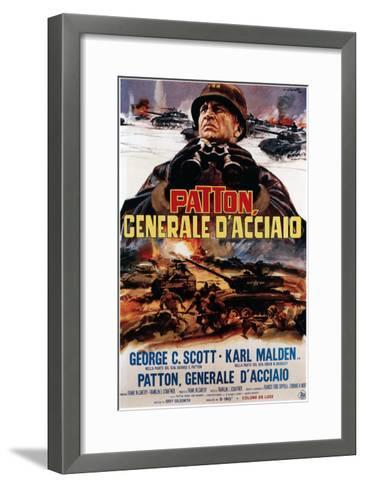 Patton ,(AKA Patton Cenerale D'Acciaio), Italian Poster Art, George C. Scott, 1970--Framed Art Print