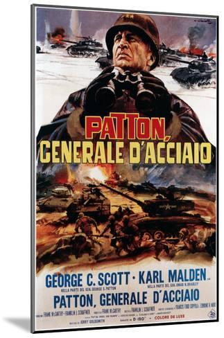 Patton ,(AKA Patton Cenerale D'Acciaio), Italian Poster Art, George C. Scott, 1970--Mounted Giclee Print