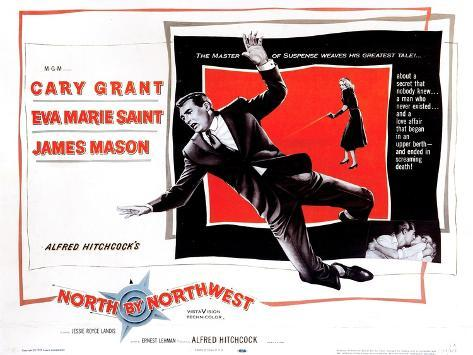 North by Northwest, from Left, Cary Grant, Eva Marie Saint, 1959--Stretched Canvas Print