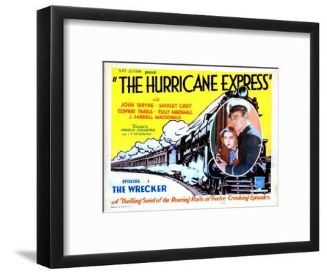 The Hurricane Express, Shirley Grey, John Wayne, 1932--Framed Art Print