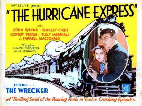 The Hurricane Express, Shirley Grey, John Wayne, 1932--Stretched Canvas Print