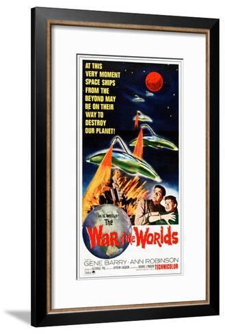 The War of the Worlds, Bottom from Left: Gene Barry, Ann Robinson on 1965 Poster Art, 1953--Framed Art Print