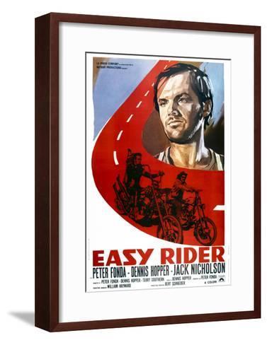 Easy Rider, Italian Poster Art, from Top: Jack Nicholson, Peter Fonda, Dennis Hopper, 1969--Framed Art Print