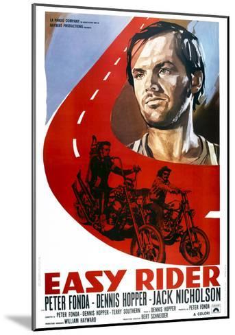 Easy Rider, Italian Poster Art, from Top: Jack Nicholson, Peter Fonda, Dennis Hopper, 1969--Mounted Giclee Print