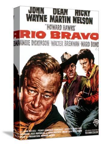 Rio Bravo, John Wayne, Dean Martin, Ricky Nelson, 1959--Stretched Canvas Print