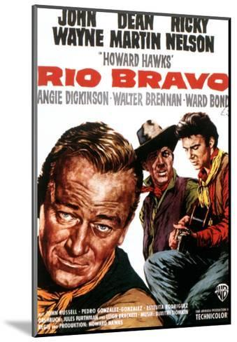 Rio Bravo, John Wayne, Dean Martin, Ricky Nelson, 1959--Mounted Giclee Print