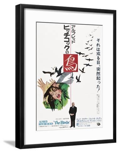 The Birds, Tippi Hedren, Alfred Hitchcock, Japanese Poster Art, 1963--Framed Art Print