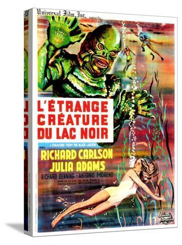 Creature from the Black Lagoon, (aka L'Etrange Creature Du Lac Noir), French Poster Art, 1954--Stretched Canvas Print