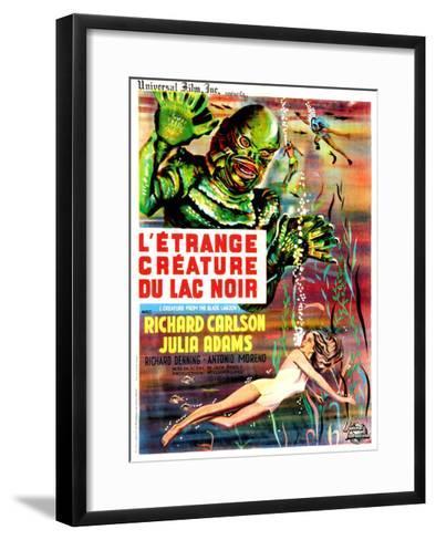 Creature from the Black Lagoon, (aka L'Etrange Creature Du Lac Noir), French Poster Art, 1954--Framed Art Print