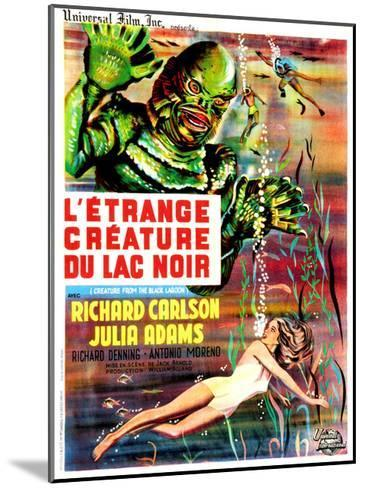 Creature from the Black Lagoon, (aka L'Etrange Creature Du Lac Noir), French Poster Art, 1954--Mounted Giclee Print