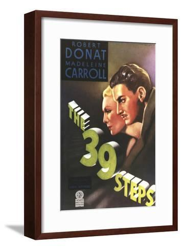 The 39 Steps, from Left: Madeleine Carroll, Robert Donat, 1935--Framed Art Print
