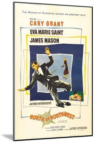 North by Northwest, Cary Grant, Eva Marie Saint on Poster Art, 1959--Mounted Giclee Print