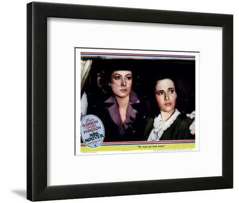 Mrs. Miniver, from Left, Greer Garson, Teresa Wright, 1942--Framed Art Print