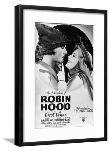 The Adventures of Robin Hood, from Left, Errol Flynn, Olivia De Havilland, 1938--Framed Art Print