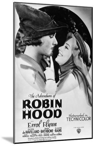 The Adventures of Robin Hood, from Left, Errol Flynn, Olivia De Havilland, 1938--Mounted Giclee Print