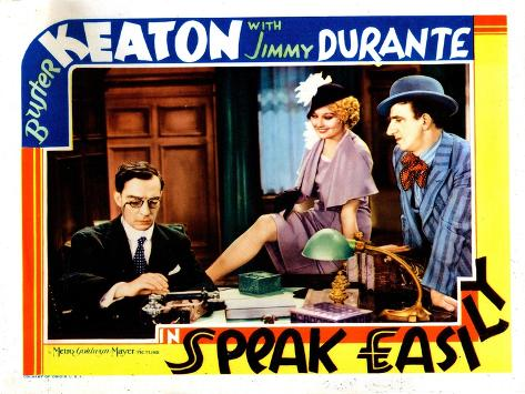 Speak Easily, from Left: Buster Keaton, Thelma Todd, Jimmy Durante, 1932--Stretched Canvas Print