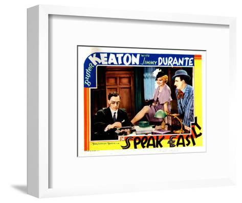 Speak Easily, from Left: Buster Keaton, Thelma Todd, Jimmy Durante, 1932--Framed Art Print