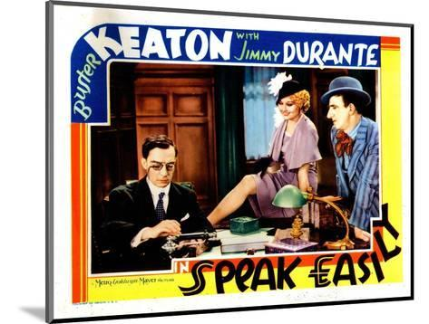 Speak Easily, from Left: Buster Keaton, Thelma Todd, Jimmy Durante, 1932--Mounted Giclee Print