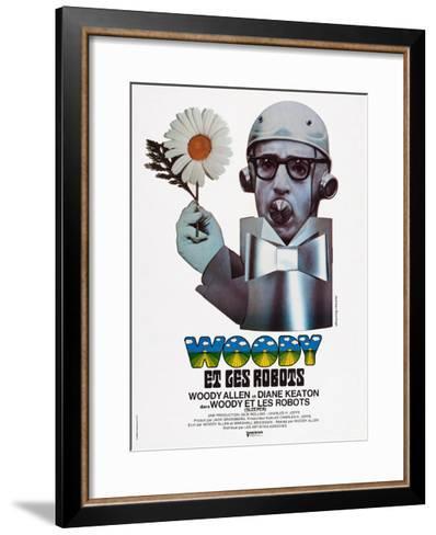 Sleeper, (aka Woody Et Les Robots), French Poster Art, Woody Allen, 1973--Framed Art Print