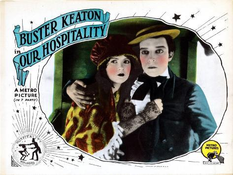 Our Hospitality, from Left: Natalie Talmadge, Buster Keaton, 1923--Stretched Canvas Print