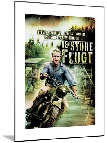 The Great Escape, (Den Stoer Flugt), Steve Mcqueen on Danish Poster Art, 1963--Mounted Giclee Print