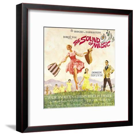The Sound of Music, from Left: Julie Andrews, Christopher Plummer, 1965--Framed Art Print