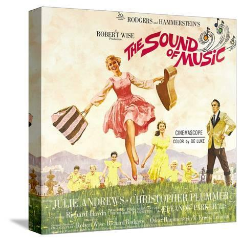 The Sound of Music, from Left: Julie Andrews, Christopher Plummer, 1965--Stretched Canvas Print