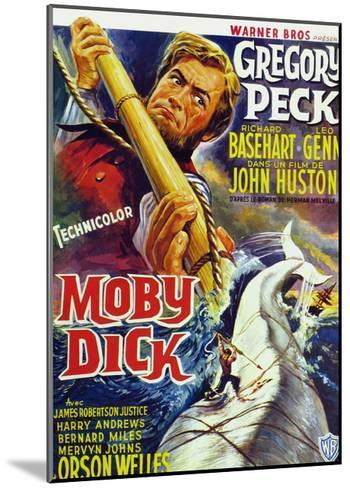 Moby Dick, Gregory Peck on French Poster Art, 1956--Mounted Giclee Print
