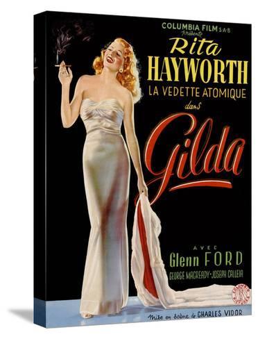 Gilda, Belgian Poster, Rita Hayworth, 1946--Stretched Canvas Print