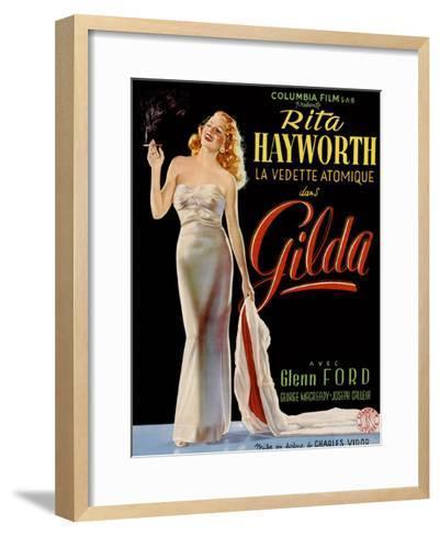 Gilda, Belgian Poster, Rita Hayworth, 1946--Framed Art Print
